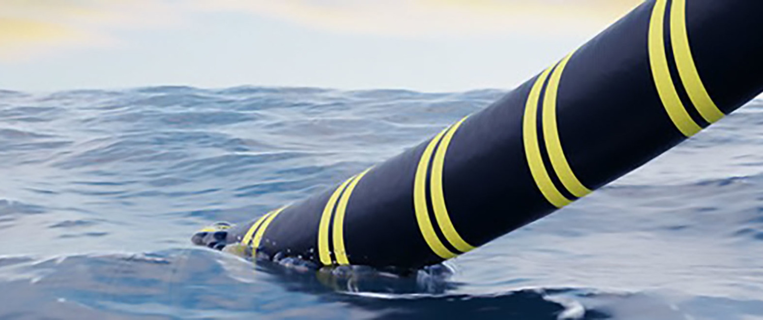A picture of a subsea umbilical